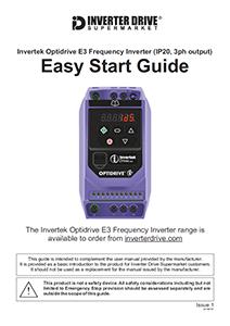 Invertek Optidrive E3 Easy Start Guide (IP20, 3ph output)