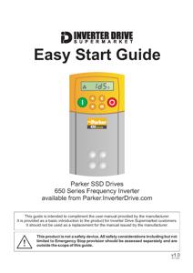 Parker 650 Easy Start Guide