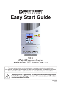 WEG CFW08 Easy Start Guide