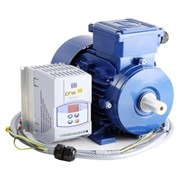 Photo of AC Variable Speed Drive and IE2 Motor Kit - 0.75kW (1.0HP) 230V Single Phase WEG CFW-10 to Marelli 140-2800RPM