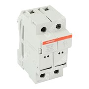 Photo of Mersen (Ferraz) - 2P 32A Fuse Holder & Power Circuit Off-Load Isolator for Single 10mm x 38mm Fuse - CMC102