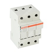 Photo of Mersen (Ferraz) CMS103 3-Pole Fuse Holder for 10mm x 38mm Fuses, 32A Max