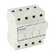 Photo of Mersen (Ferraz) - 4P 32A Fuse Holder & Power Circuit Off-Load Isolator for Single 10mm x 38mm Fuses - CMS104