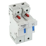 Photo of Mersen 14mm x 51mm Twin Ultrasafe Fuse Holder for Barrel Fuses to 50A - US142