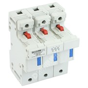 Photo of Mersen (Ferraz) - 3P 32A Fuse Holder (With Indicator) & Power Circuit Off-Load Isolator for 10mm x 38mm Fuse - CMS103I
