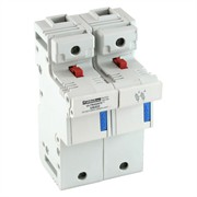 Photo of Mersen (Ferraz) - 22mm x 58mm Twin Ultrasafe Fuse Holder for Two Barrel Fuses to 125A - US222