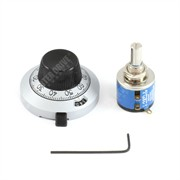Photo of Ten Turn Potentiometer, Knob & Large Turns Counting Dial
