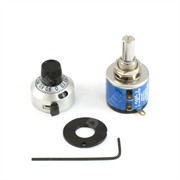 Photo of Ten Turn Potentiometer, Knob & Small Turns Counting Dial