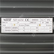 Photo of Vascat 5.5kW x 1500rpm 230V/400V B5 Foot Mount AC Motor Fc Enc 132
