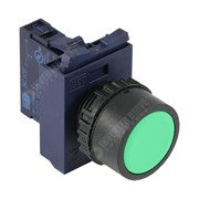 Photo of WEG CSW Momentary Pushbutton, Green, 22mm with Flange and Normally Open Contact