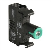 Photo of WEG BIDL2-D61 - LED Contact Block, 110-130VAC, Green