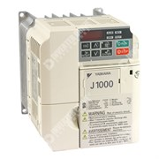 Photo of Yaskawa J1000 IP20 0.75kW/1.1kW 230V 1ph to 3ph AC Inverter Drive, DBr, Unfiltered
