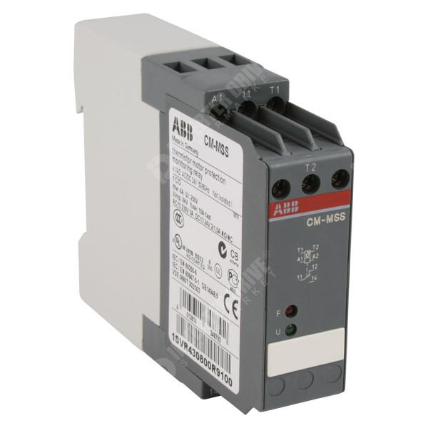 Abb thermistor relay 1 x contact 24v ac dc 1svr430800r9100 for Thermistor motor protection relay