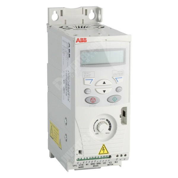 ABB ACS150 0.75kW 230V 1ph to 3ph AC Inverter Drive, DBr, C3 EMC on