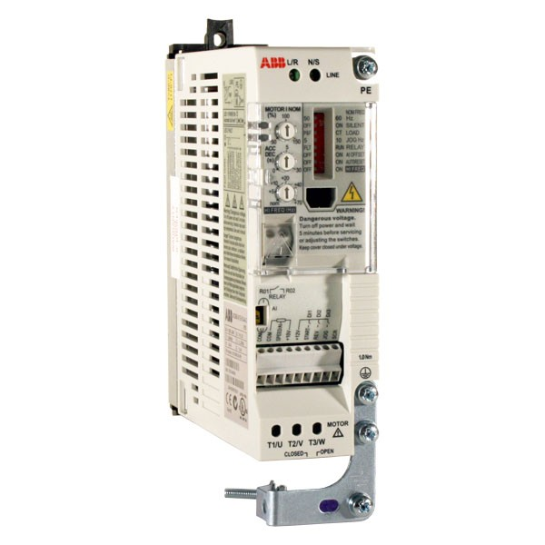 Photo of ABB ACS55 - 0.37kW 230V 1ph to 3ph - AC Inverter Drive Speed Controller, Unfiltered