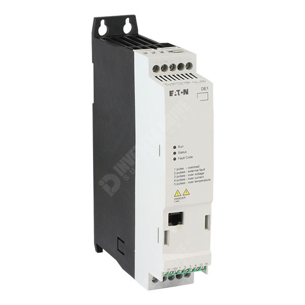 Photo of Eaton DE1 0.37kW 230V 1ph to 3ph AC Inverter Drive C1 EMC