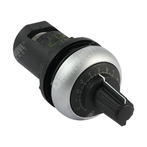 Photo of Single Turn 10k IP66 Potentiometer, Knob and Dial for 22mm Hole