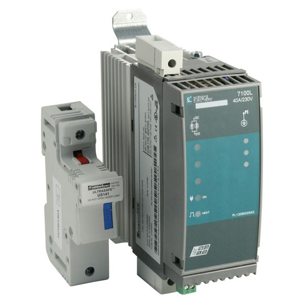 Photo of Eurotherm 7100L - 40A 48-250V 1ph Solid State Contactor, DC Logic Input, Fuse