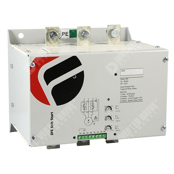 Fairford dfe 26 soft starter for 55kw 110kw three phase for Single phase motor soft starter