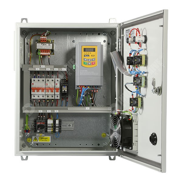 IDS Easy Start Panel ESP01 0 75kW 400V 3ph Parker AC10 in IP54 Enclosure,  C3 EMC Filter