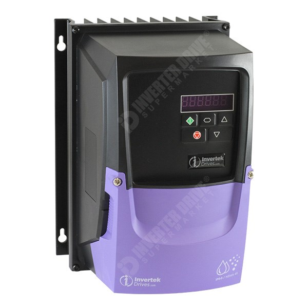 Photo of Invertek Optidrive E3 IP66 1.5kW 230V 1ph to 3ph AC Inverter Drive, C1 EMC