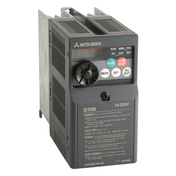 Photo of Mitsubishi D720S - 0.75kW (or 0.55kW) 230V 1ph to 3ph AC Inverter Drive Speed Controller