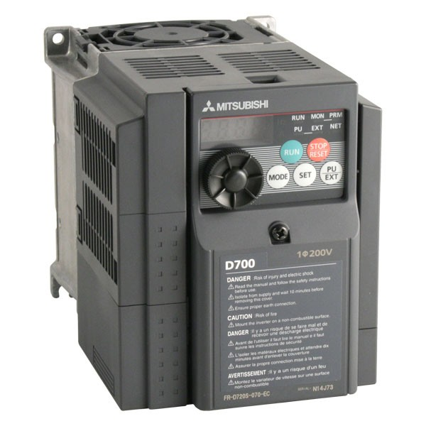 Photo of Mitsubishi D720S SC - 1.5kW (or 1.1kW) 230V 1ph to 3ph AC Inverter Drive Speed Controller, Unfiltered