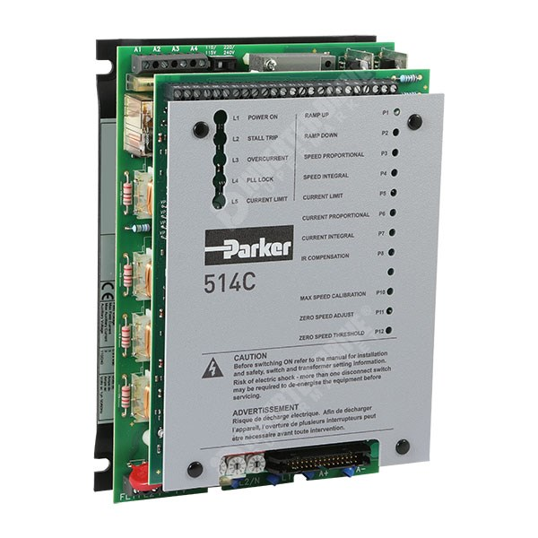 Photo of Parker SSD 514C 8A 4Q 110V/230V/400V 1ph/2ph AC to DC Isolated Signals