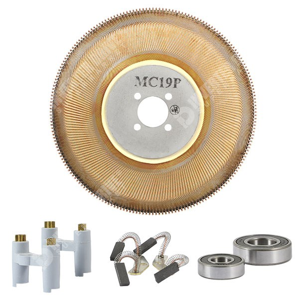 Photo of Spares Kit for Parvex MC19P Motor Including Brushes Disc and Bearings