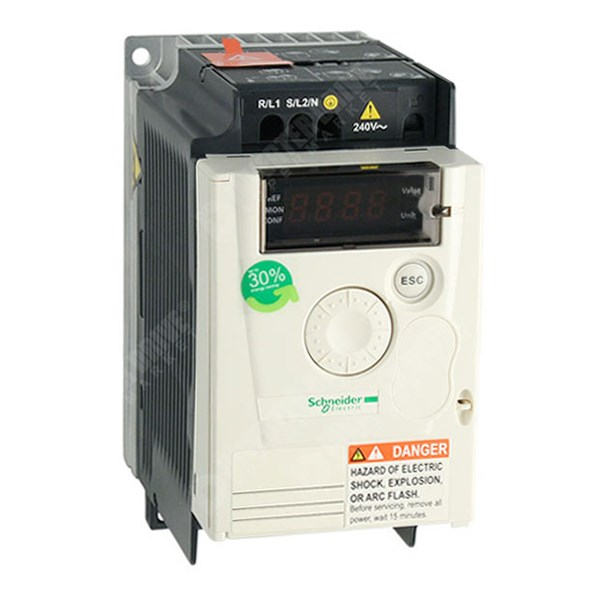 Photo of Schneider Altivar 12 0.37kW 115V 1ph to 230V 3ph - AC Inverter Drive Speed Controller