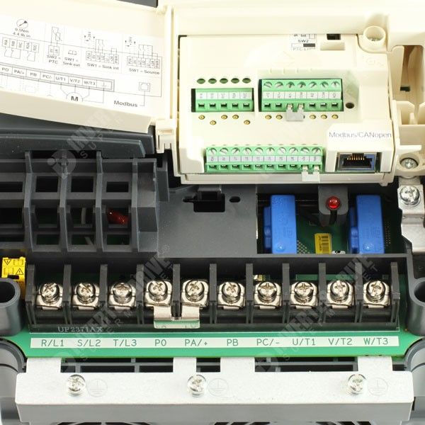 600_Schneider ATV71 S4 7 schneider altivar 71 11kw 400v 3ph ac inverter drive, c3 emc ac altivar 71 wiring diagram at gsmx.co