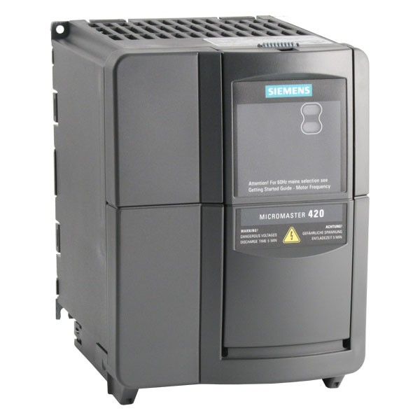 Siemens micromaster 420 ip20 0. 25kw 230v 1ph to 3ph ac inverter.