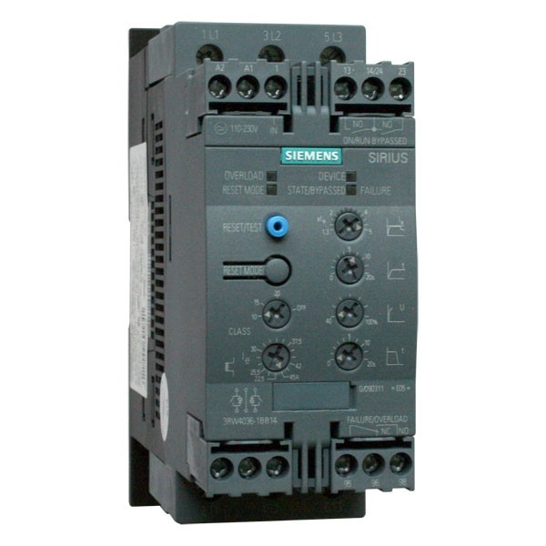siemens sirius 3rw40 22kw soft start with 24v controls soft starters rh inverterdrive com Siemens Soft Starter Manual Siemens Soft Starter Size 5