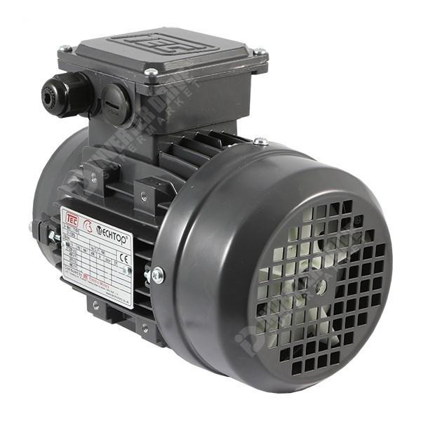 Tec electric 1hp 2 pole 230v 400v 3ph ac for 1hp 3 phase motor