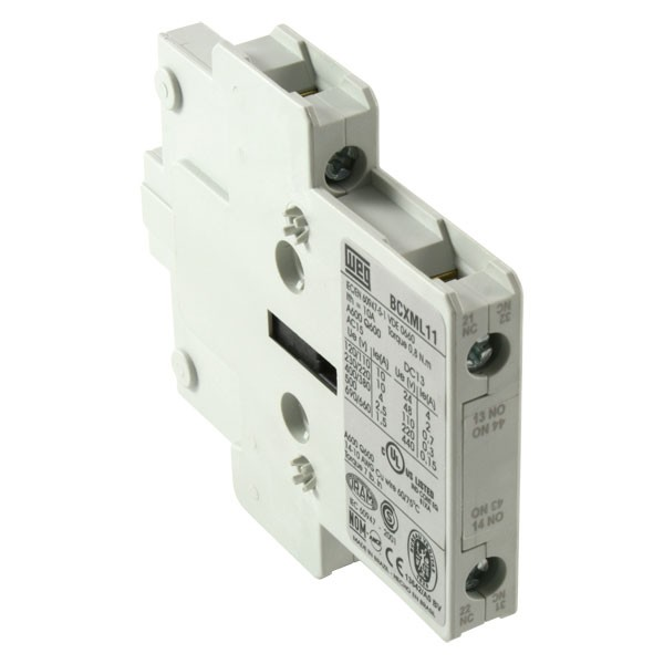 weg bcxml11 1no 1nc auxiliary contact side mounting for cwm