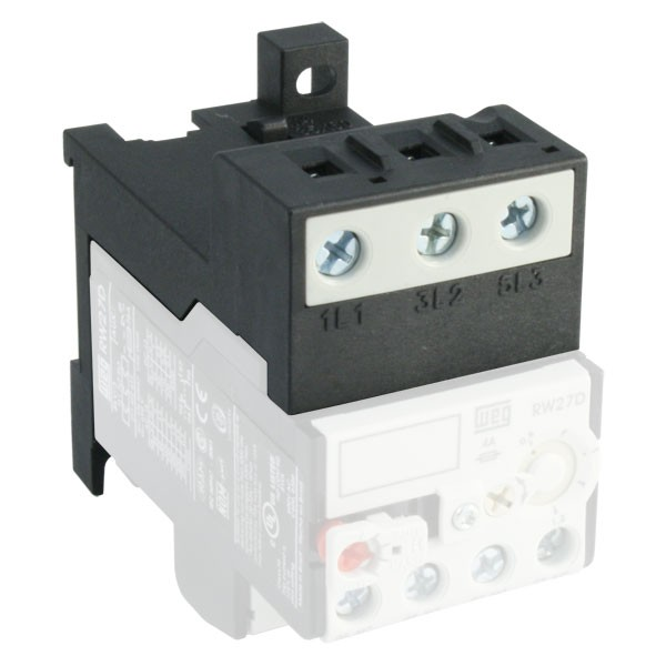 Weg bf27d mounting base for rw27 thermal overload relay thermal overload relays Motor overload relay