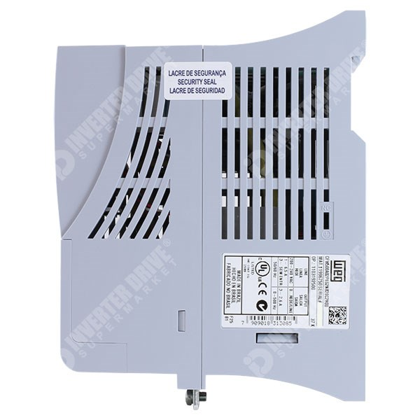 Photo of WEG CFW500 IP20 0.18kW 230V 1ph to 3ph AC Inverter Drive, C2 EMC