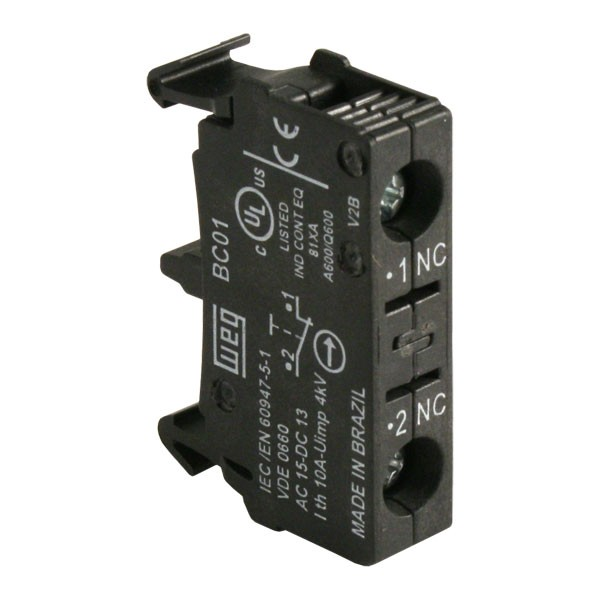 Photo of WEG CSW-BC01 - Contact Block, Single, 1 x NC