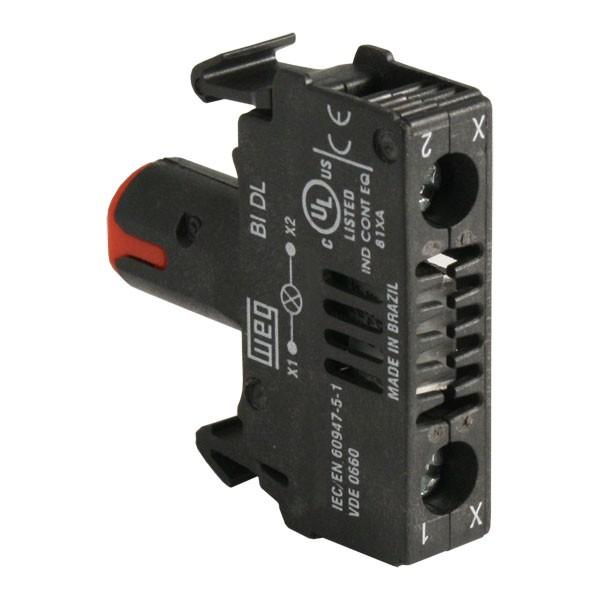 110-130Vac Red WEG CSW-BIDL1D61 Illumination Blocks with Integrated LED