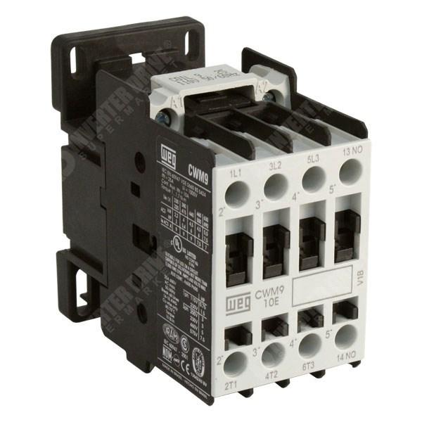 weg cwm12 12a 25a 5 5kw 11kw 3 pole contactor 1nc aux 24v dc