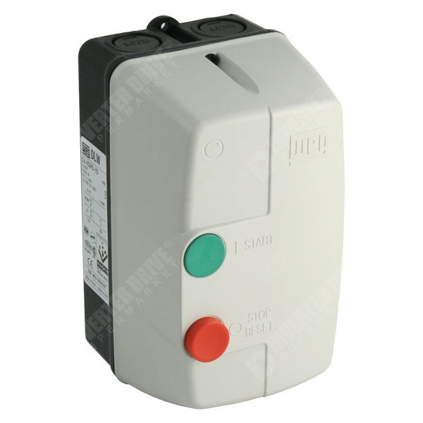WEG DLWM - DOL Starter with Overload for 230V Single Phase Motor to 2 2kW,  IP65
