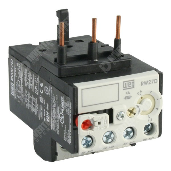 Photo of WEG RW27D – 0.8-1.2A Thermal Overload Relay for CWM Contactors