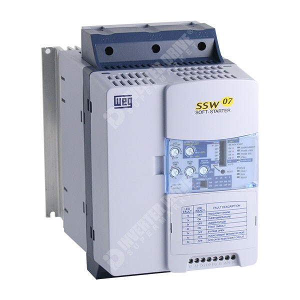 Weg ssw07 soft starter 45a 22kw 110 230v controls soft for Single phase motor soft starter