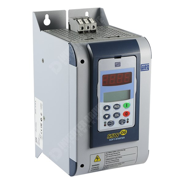 Weg ssw 06 30a 15kw soft start 110 230v controls soft for Single phase motor soft starter