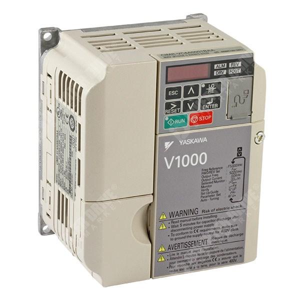 Yaskawa V1000 IP20 0 2kW/0 4kW 400V 3ph AC Inverter Drive, DBr, STO,  Unfiltered