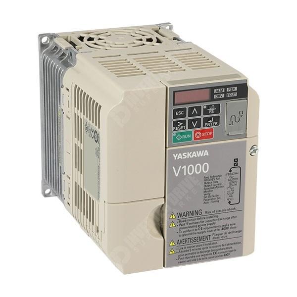 Yaskawa V1000 IP20 3kW/3 7kW 400V 3ph AC Inverter Drive, DBr, STO,  Unfiltered