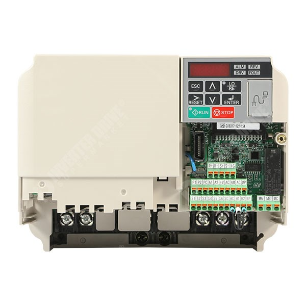 Photo of Yaskawa V1000 IP20 4kW 230V 1ph to 3ph AC Inverter Drive, DBr, STO, Unfiltered